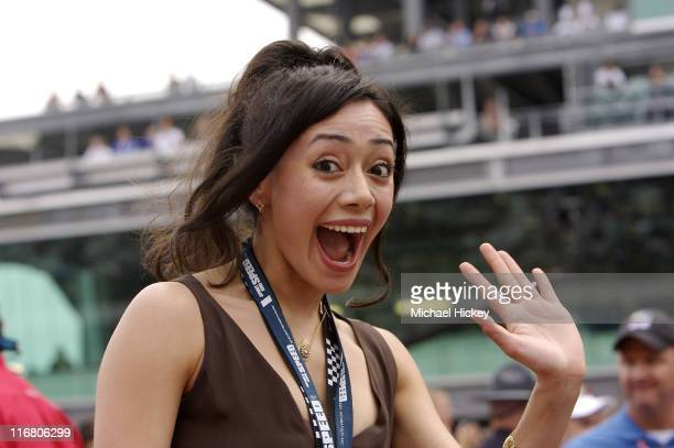 Aimee Garcia seen at the Indy 500 in Speedway, Indiana on May 27, 2007.