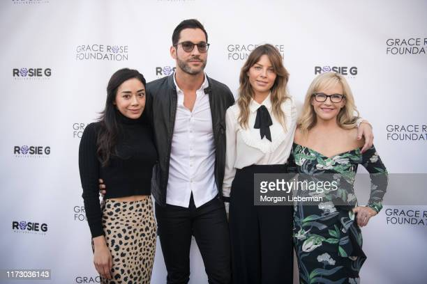 Aimee Garcia, Tom Ellis, Lauren German, and Rachael Harris arrive at the 16th Annual Grace Rose Foundation Fashion Show Fundraiser at SLS Hotel on...