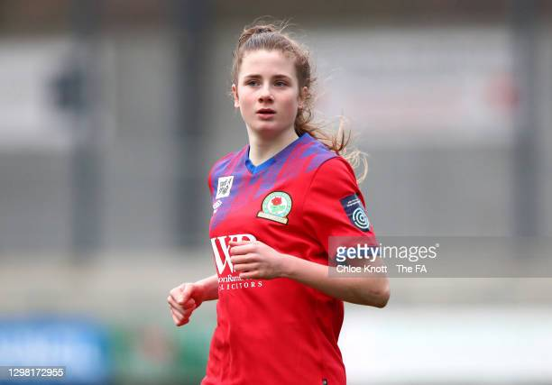 Aimee Hodgeson of Blackburn Rovers looks on during the Barclays FA Women's Championship match between London City Lionesses and Blackburn Ladies at...