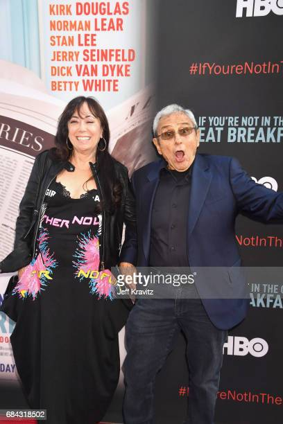 Aimee Hyatt and George Shapiro at the LA Premiere of If You're Not In The Obit Eat Breakfast from HBO Documentaries on May 17 2017 in Beverly Hills...