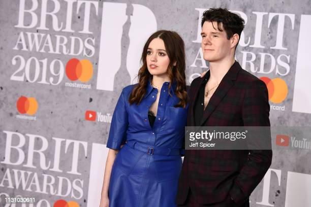 Aimee Lee Wood and Connor Swindells attend The BRIT Awards 2019 held at The O2 Arena on February 20 2019 in London England