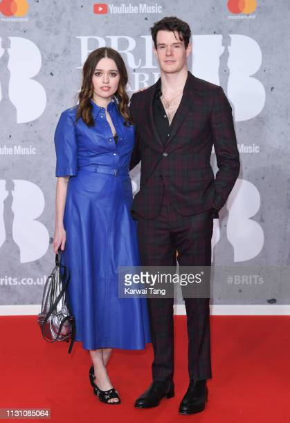 Aimee Lee Wood and Connor Swindells attends The BRIT Awards 2019 held at The O2 Arena on February 20 2019 in London England