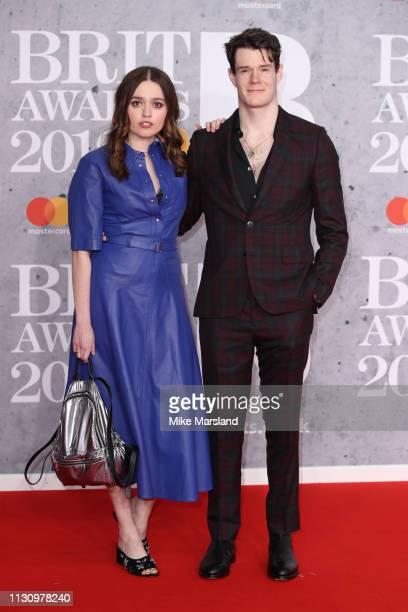 Aimee Lou Wood and Connor Swindells attend The BRIT Awards 2019 held at The O2 Arena on February 20 2019 in London England
