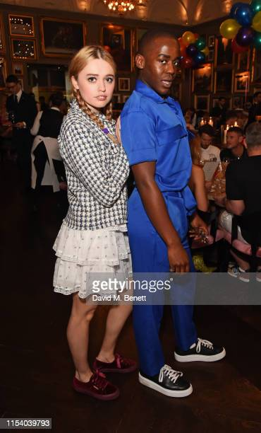 Aimee Lou Wood and Ncuti Gatwa attend a pride brunch hosted by House of Holland and The London EDITION in aid of Albert Kennedy Trust at Berners...