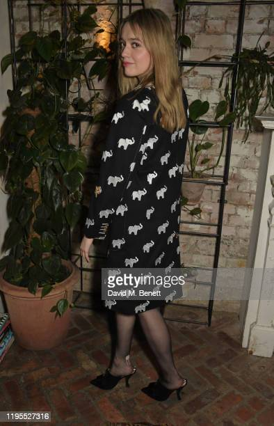 Aimee Lou Wood attends the press night after party for Uncle Vanya at Sophie's on January 23 2020 in London England