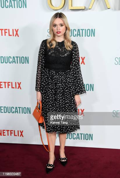 Aimee Lou Wood attends the Sex Education Season 2 World Premiere at Genesis Cinema on January 08 2020 in London England