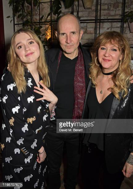 Aimee Lou Wood Ian Rickson and Sonia Friedman attend the press night after party for Uncle Vanya at Sophie's on January 23 2020 in London England