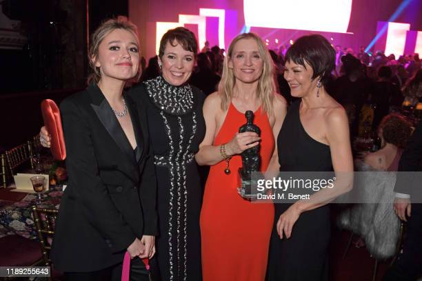 Aimee Lou Wood Olivia Colman AnneMarie Duff and Helen McCrory attend the after party of the 65th Evening Standard Theatre Awards in association with...