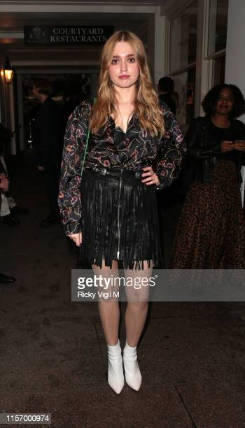 Aimee Lou Wood seen attending The ELLE List event at The Petersham Restaurant on June 19 2019 in London England