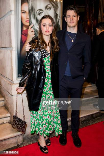 Aimee LouWood and Connor Swindells attend the All About Eve press night at Noel Coward Theatre on February 12 2019 in London England