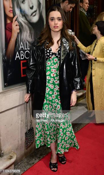 Aimee LouWood arriving for the opening night of All About Eve starring Gillian Anderson and Lily James at the Noel Coward Theatre central London