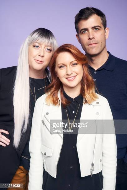 Aimee Lynn Barneberg Lara Jean Gallagher and Davis Priestley of film 'Clementine' poses for a portrait during the 2019 Tribeca Film Festival at...