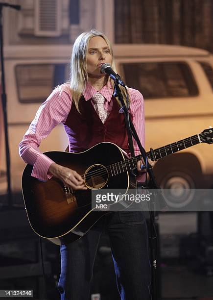 LENO Aimee Mann Air Date Episode 3570 Pictured Musical guest Aimee Mann performs on June 9 2008 Photo by Margaret Norton/NBCU Photo Bank