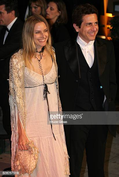 Aimee Mann and Michael Penn during 2006 Vanity Fair Oscar Party at Morton's in West Hollywood California United States