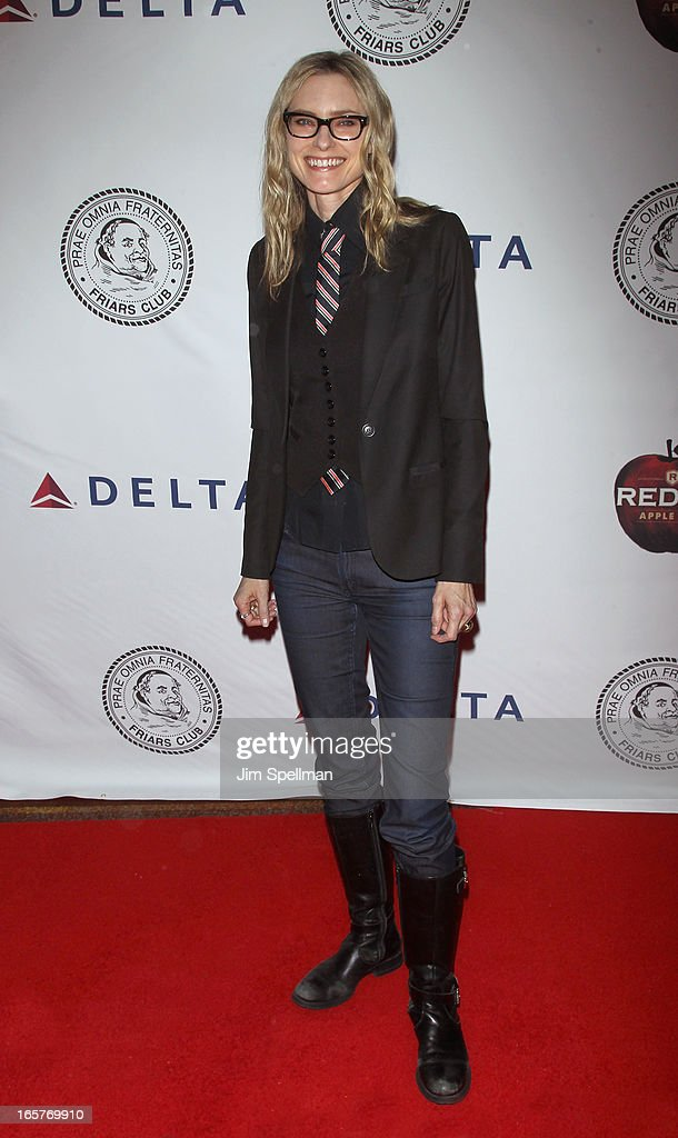 Aimee Mann attends The Friars Club Roast Honors Jack Black at New York Hilton and Towers on April 5, 2013 in New York City.