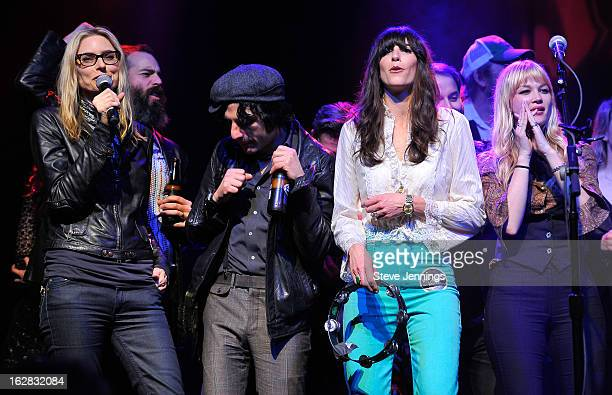 Aimee Mann Ethan Miller Jesse Malin Nicki Bluhm and Catherine Pierces perform on stage as Jameson Best Fest launches Petty Fest at The Fillmore on...