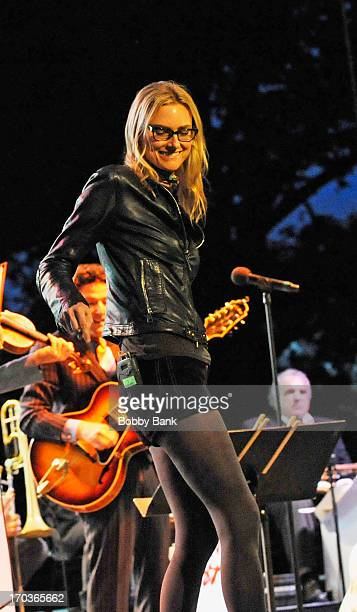 Aimee Mann performs at Central Park SummerStage on June 11, 2013 in New York City.