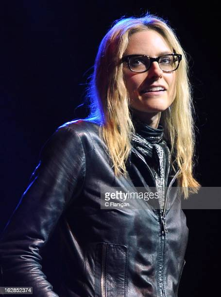 Aimee Mann performs during the San Francisco PETTY FEST at The Fillmore on February 27 2013 in San Francisco California