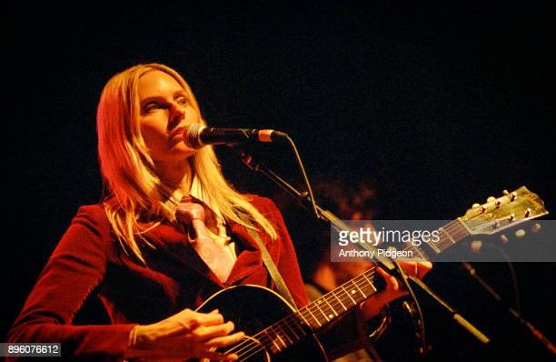 Aimee Mann performs on stage at Aimee Mann's Annual Christmas Show at the Aladdin Theater on 5th December 2007 in Portland Oregon United States