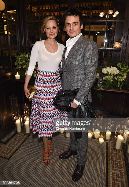 Aimee Mullins and actor Rupert Friend attend CHANEL Tribeca Film Festival Artists Dinner Inside on April 18 2016 in New York City