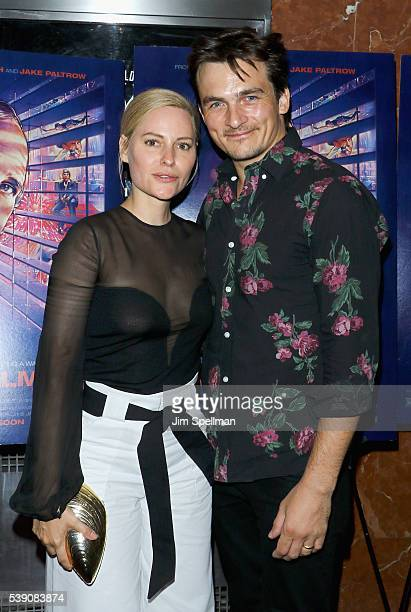 Aimee Mullins and actor Rupert Friend attend the 'De Palma' New York screening at DGA Theater on June 9 2016 in New York City