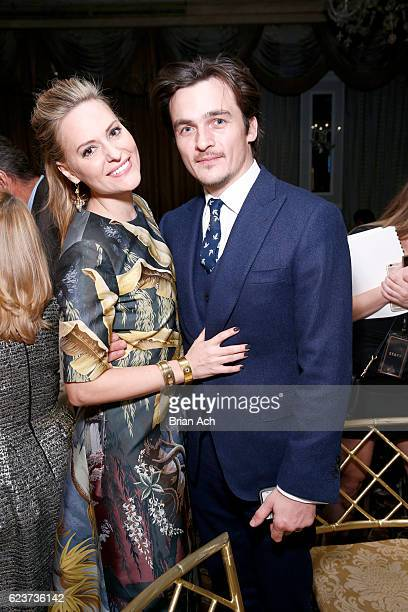 Aimee Mullins and actor Rupert Friend attend the L'Oreal Paris Women of Worth Celebration 2016 Arrivals on November 16 2016 in New York City