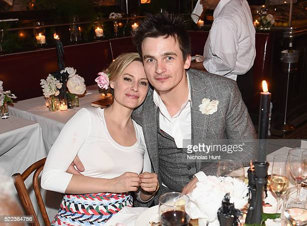 Aimee Mullins and Rupert Friend attend CHANEL Tribeca Film Festival Artists Dinner Inside on April 18 2016 in New York City