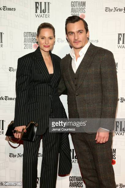 Aimee Mullins and Rupert Friend attend IFP's 28th Annual Gotham Independent Film Awards at Cipriani Wall Street on November 26 2018 in New York City