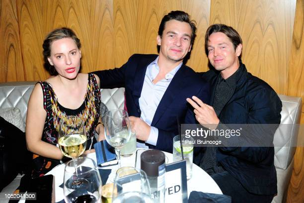 Aimee Mullins and Rupert Friend attend NYFF56 Closing Night Gala Presentation North American Premiere Of 'At Eternity's Gate' After Party at Ascent...