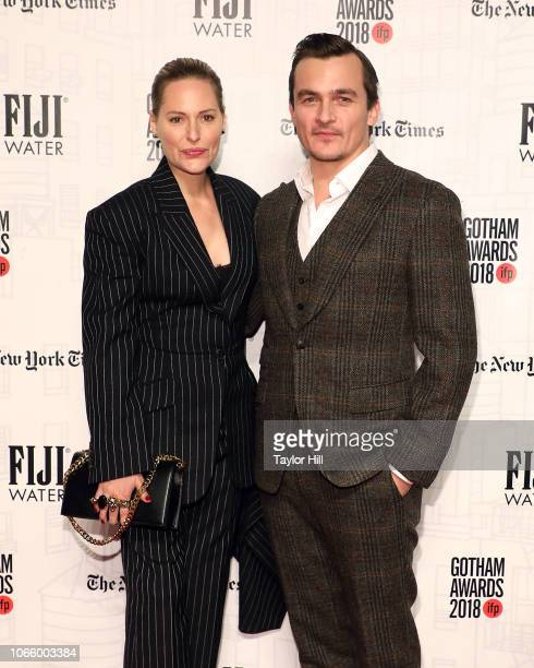 Aimee Mullins and Rupert Friend attend the 2018 Gotham Awards at Cipriani Wall Street on November 26 2018 in New York City