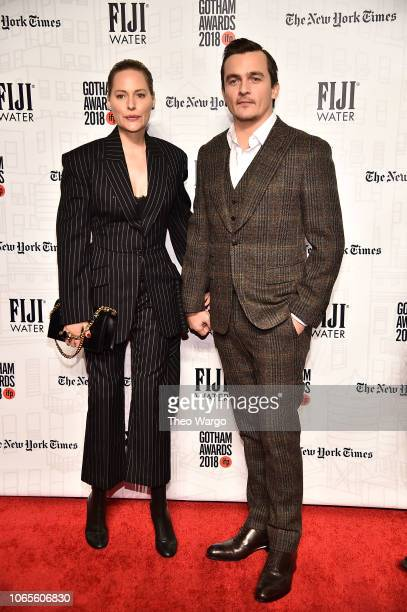 Aimee Mullins and Rupert Friend attend the 2018 Gotham Awards on November 26 2018 in New York City