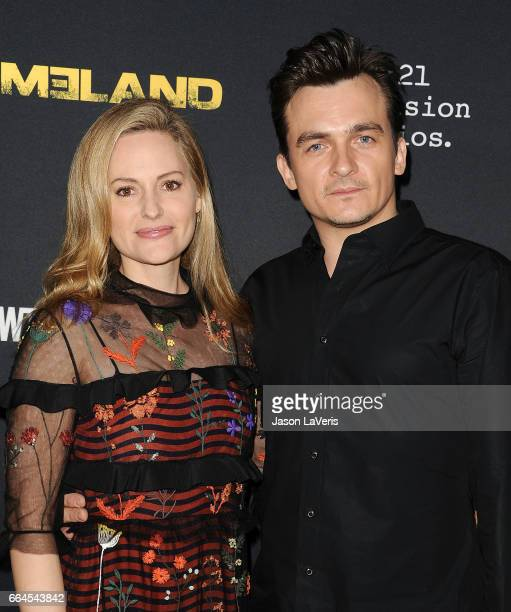 Aimee Mullins and Rupert Friend attend the ATAS Emmy screening of Showtime's 'Homeland' at NeueHouse Hollywood on April 3 2017 in Los Angeles...