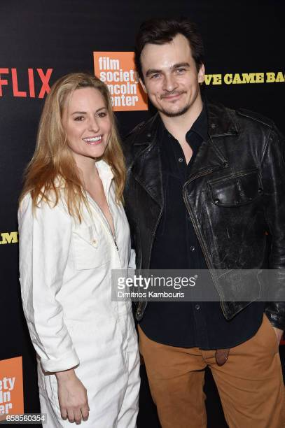 Aimee Mullins and Rupert Friend attend the 'Five Came Back' world premiere at Alice Tully Hall at Lincoln Center on March 27 2017 in New York City