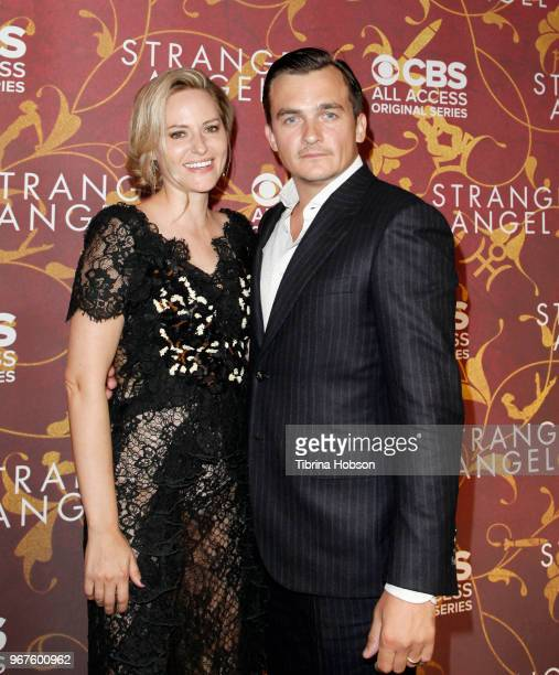 Aimee Mullins and Rupert Friend attend the premiere of 'Strange Angel' at Avalon on June 4 2018 in Hollywood California