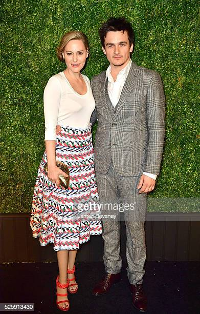 Aimee Mullins and Rupert Friend attends the 11th Annual Chanel Tribeca Film Festival Artists Dinner at Balthazar on April 18 2016 in New York City