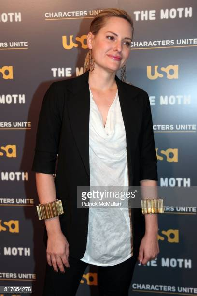 """Aimee Mullins attend USA Network and The Moth's Storytelling Event A More Perfect Union Stories of Prejudice and Power"""" at the New York Public..."""