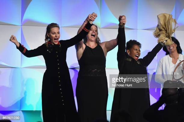 Aimee Mullins Hockey player Angela Ruggiero Rhythmic Gymnast Wendy Hilliard attends the The Women's Sports Foundation's 38th Annual Salute To Women...