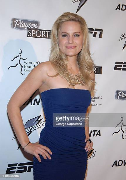 Aimee Mullins Women's Sports Foundation President arrives on the Playtex Sport Pink Carpet at the Women's Sports Foundation 28th annual Salute to...