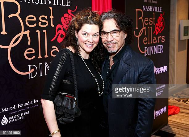 Aimee Oates and John Oates of musical group Hall Oates attend the Nashville Best Cellars Dinner at the Loews Vanderbilt Hotel on April 25 2016 in...
