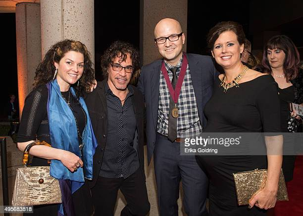 Aimee Oates John Oates Luke Laird and Beth Laird attend the 63rd Annual BMI Country awards on November 3 2015 in Nashville Tennessee