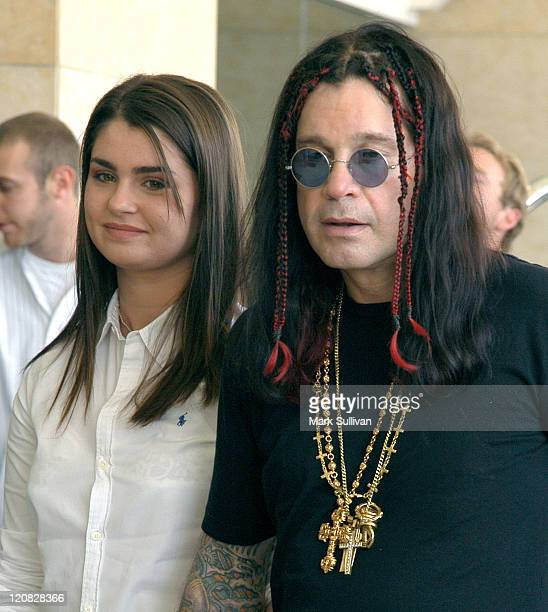 Aimee Osbourne and Ozzy Osbourne during TCA July 2003 Cable Press Tour Arrivals Day 1 at Renaissance Hollywood Hotel in Hollywood California United...