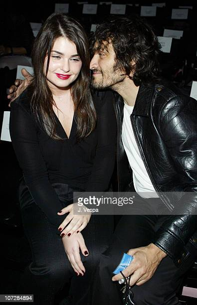 Aimee Osbourne and Vincent Gallo during Mercedes-Benz Shows LA Fashion Week Spring 2004 - Jenni Kayne Backstage and Front Row at The Standard...