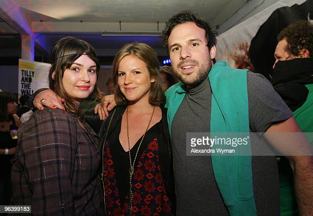 Aimee Osbourne, Brigette Sumner, and Tom Gormican at Nylon Magazine and MySpace's 3rd Annual Music Issue Party held on June 4, 2008 in Los Angeles,...
