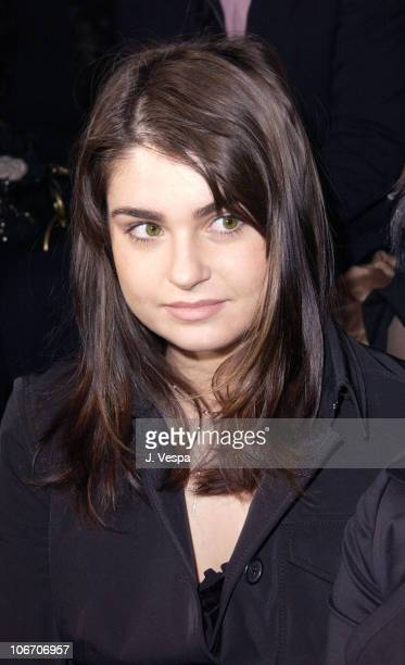 Aimee Osbourne during MercedesBenz Fashion Week Fall 2003 Collections Sean John Front Row and Backstage at Cipriani's in New York City New York...