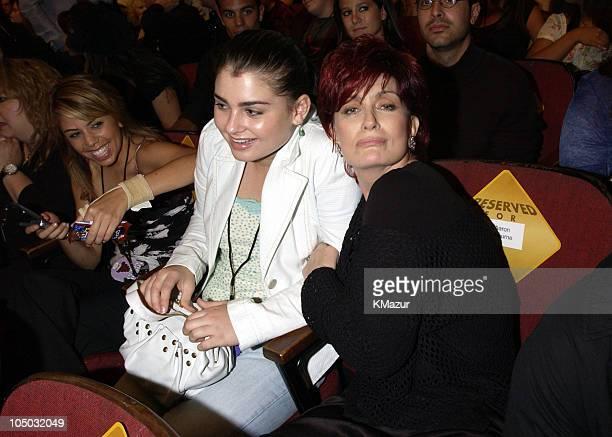 Aimee Osbourne & Sharon Osbourne during 2002 MTV Movie Awards - Backstage and Audience at The Shrine Auditorium in Los Angeles, California, United...