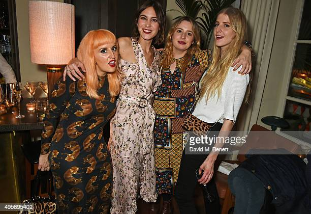 Aimee Phillips Alexa Chung Fifi Brown and Gillian Orr attend a private dinner hosted by Alexa Chung to celebrate the launch of her app Villoid and...