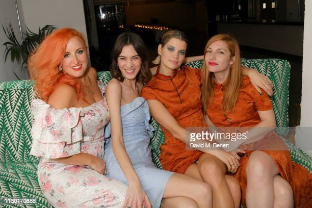 Aimee Phillips Alexa Chung Pixie Geldof and Josephine De Le Baume attend a private dinner to celebrate the launch of the new ALEXACHUNG x Sunglass...