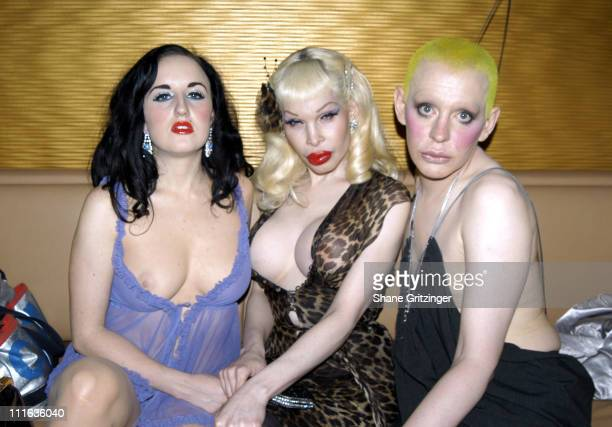 Aimee Phillips Amanda Lepore and Kenny Kenny during Amanda Lepore and Harry* Host Charm School University May 23 2005 at Marquee in New York City NY...