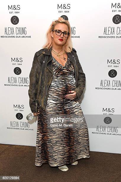 Aimee Phillips attends as Marks and Spencer and Alexa Chung celebrate 'The Winter Archive by Alexa Collection' with a launch party at Bush Hall...