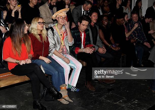 Aimee Phillips Ian Chaloner Nick Grimshaw Luke Evans Sofia Davis Samuel L Jackson Beardyman Adam Dewhurst and Teddy Edwards sit in the front row...